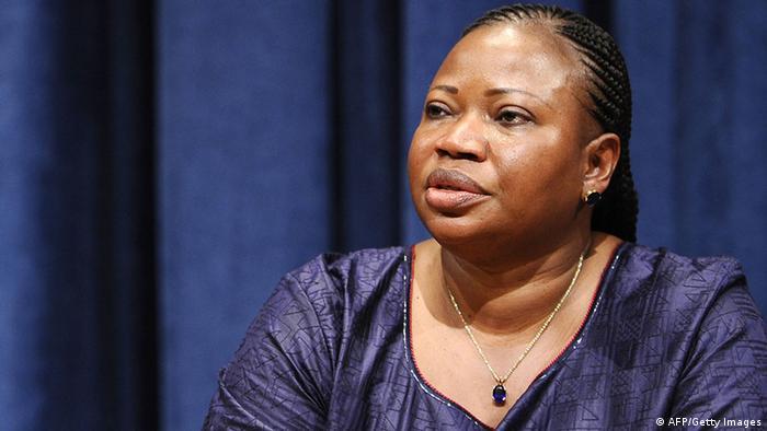 Fatou Bensouda seated