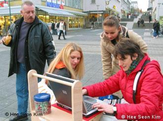 Joanne Moar em ação nas ruas