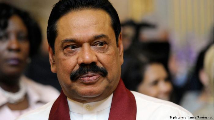 Sri Lanka Präsident Mahinda Rajapakse