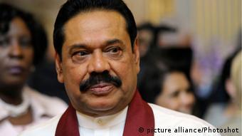 Sri Lankan President, Mahinda Rajapaksa