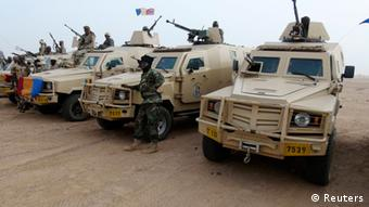 Armoured vehicles in the northeastern town of Kidal, Mali. Photo: REUTERS/Cheick Diouara