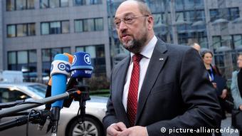 Le président du Parlement européen, Martin Schulz, lors du dernier sommet sur le budget de l'UE
