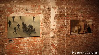 Paintings s14 and s05 of the exhibition Syria as seen on YouTube