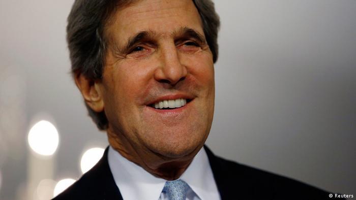 U.S. Secretary of State John Kerry smiles following his meeting with Canada's Foreign Minister John Baird (not pictured) at the State Department in Washington, February 8, 2013. REUTERS/Jason Reed (UNITED STATES - Tags: POLITICS)