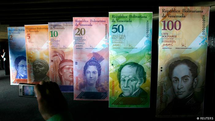 Artigo em falta: Banco Central de Caracas sem dinheiro para financiar impressão de cédulas