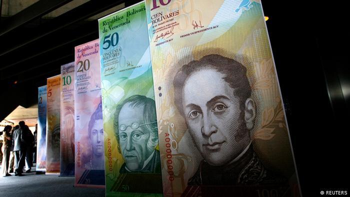 Venezuela Geld Währung Banknoten Bolivares