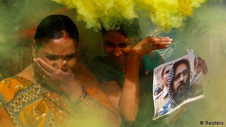 Indien Protest Mohammad Afzal Guru