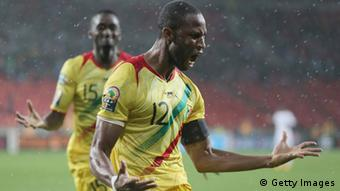 PORT ELIZABETH, SOUTH AFRICA - FEBRUARY 09: Keita Seydou of Mali celebrates scoring the 2nd goal during the 2013 Africa Cup of Nations Third Place Play-Off match between Mali and Ghana on February 9, 2013 in Port Elizabeth, South Africa. (Photo by Ian Walton/Getty Images)