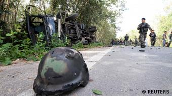 Attack on soldiers in Yala Thailand (REUTERS)