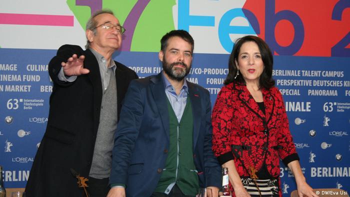 Sergio Hernández (Rodolfo), Sebastián Leilo y Paulina García.