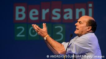 The leader of the Italian center left Democratic Party (PD) Pier Luigi Bersani ANDREAS SOLARO/AFP/Getty Images