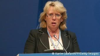 Sweden's Minister of the Environment Lena Ek, (Photo: KARIM JAAFAR/AFP/Getty Images)