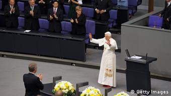 2011, ομιλία του τότε γερμανού Πάπα Βενέδικτου του 16ου στη γερμανική Βουλή
