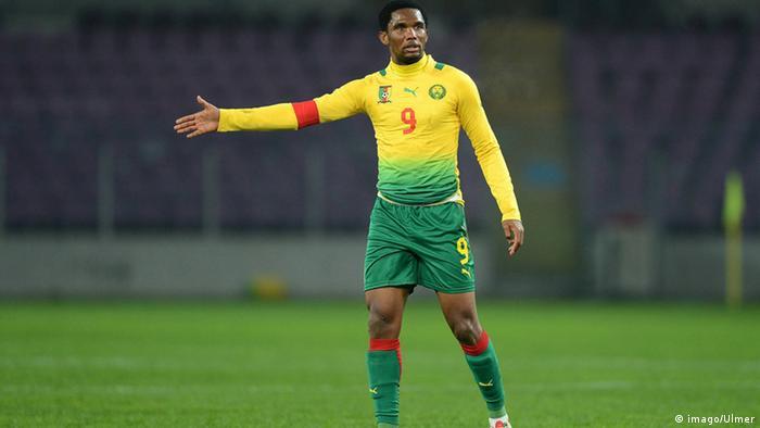 Samuel Eto o Testspiel Albanien - Kamerun