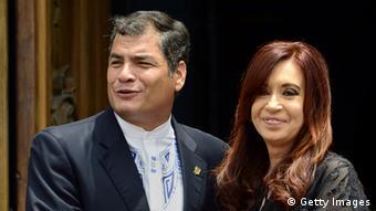 Rafael Correa Cristina Fernandez de Kirchner