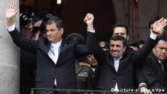 Rafael Correa Ecuador mit Ahmadinejad