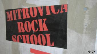 A poster ad for Mitrovica Rock School