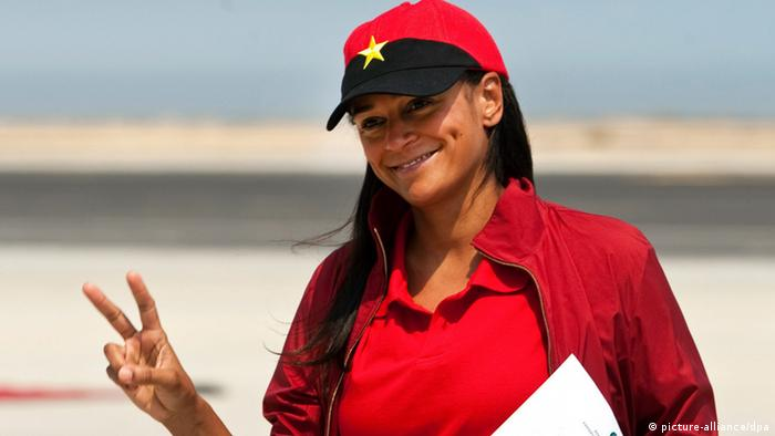Isabel dos Santos in Lobito, Angola. Photo: EPA/PAULO NOVAIS
