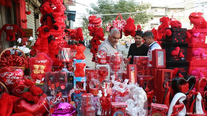 Vorbereitungen für Valentinstag im Irak