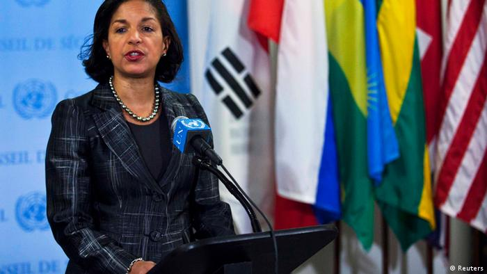 U.S. Ambassador to the United Nations Susan Rice speaks to the media at the U.N. headquarters in New York REUTERS/Eduardo Munoz (UNITED STATES - Tags: POLITICS)
