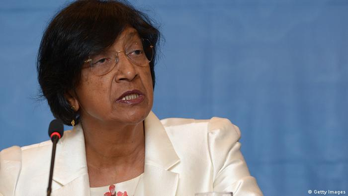 UN High Commissioner for Human Rights Navanethem Pillay, also known as Navi Pillay, ADEK BERRY/AFP/Getty Images
