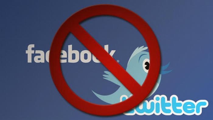An image symbolizing banned social networks
