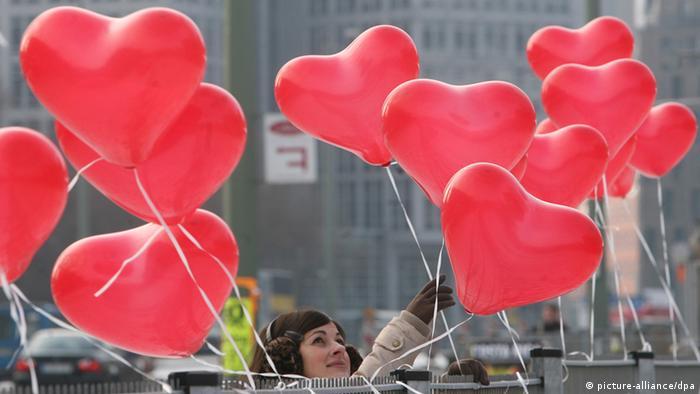Heart-shaped balloons