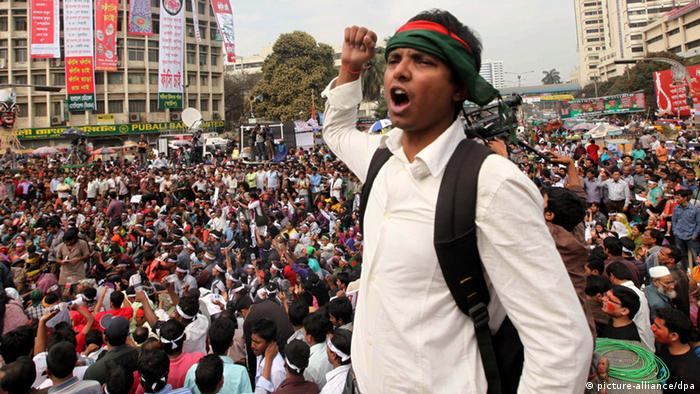 Bangladesch Dhaka Proteste