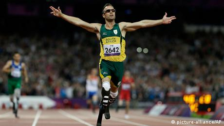 Oscar Pistorius at Paralympic games in London