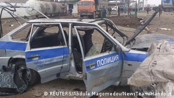 Терорист-смертник підірвав автомобіль поліції. Лютий 2013 року, Дагестан