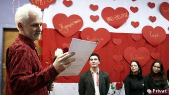 Правозащитник Алесь Беляцкий отмечен премией Люблю Беларусь в 2011 году.