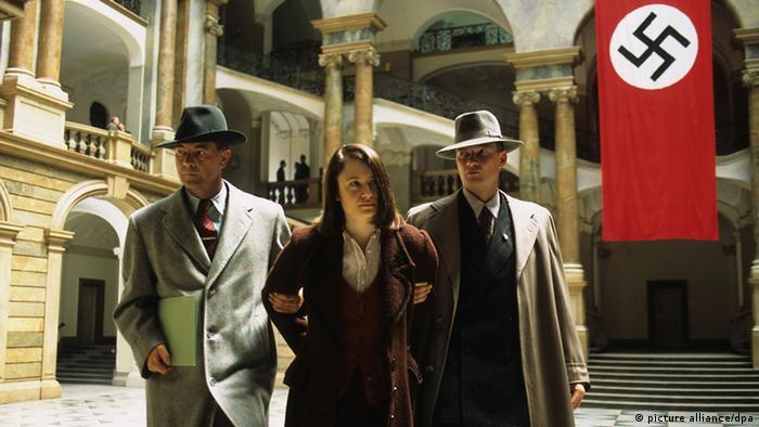 Escena de la película sobre los hermanos Scholl.