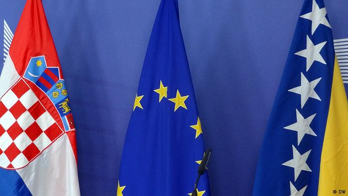EU, Croatian flags