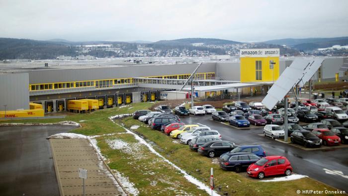 Centro de envíos de Amazon en Bad Hersfeld, Alemania.