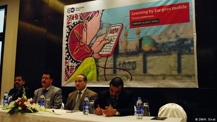 Pressekonferenz Learning by Ear DW in Kabul (DW/H. Sirat)