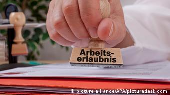 Печать для получения разрешения на работу в Германии