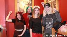 Die feministische Organisation Femen hat seit ca. einem Monat eine Filiale in Deutschland. Die Gruppe besteht aus 20 Aktivistinnen, von denen die meisten in Berlin und Hamburg leben. *** Fotos 14. Februar 2013 in Berlin. Rechte: DW/Olga Kapustina