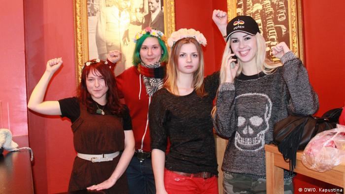 Four members of Femen in Berlin (c) DW/Olga Kapustina