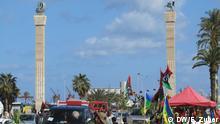 Märtyrer-Platz in Tripoli ist der zentrale Ort für die Feier des zweiten Jahrestag der Revolution. *** Rechte: DW, Essam Zuber (Tripoli, 15.02.2013)