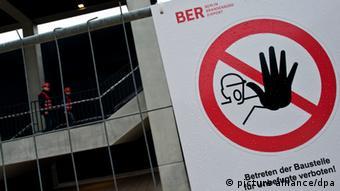 Sign at BER airport in Berlin