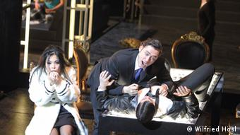 A scene from a contemporary staging of Mussorgsky's Boris Godunov