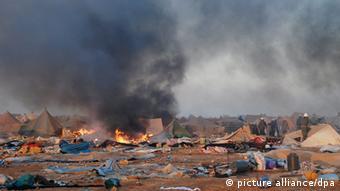 Ein Zeltlager in der Region Westsahara (Foto: Epa)