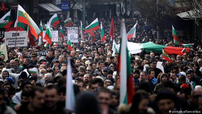 Demonstration in Sofia Bulgarien