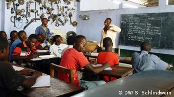 Schulunterricht in einer Berufschule in Goma, DRC (Foto: DW/ Simone Schlindwein)