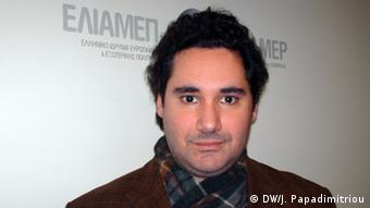 Theodoros Tsakiris, Energieexperte im Athener Politikforschungsinstitut ELIAMEP (Foto: DW/Jannis Papadimitriou)