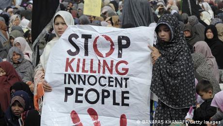 Trauer und Protest nach Bombenanschlag in Quetta Pakistan