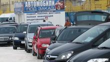 Weißrussland Autogeschäft in Minsk