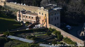 A view of the 'Mater Ecclesiae' monastery in the gardens of the Vatican on February 14, 2013. In this building Pope Benedict XVI will retire after his resignation. After a brief period at the summer papal residence at Castel Gandolfo, Benedict XVI plans to move into this former convent on the grounds of the Vatican, which is currently undergoing renovations. In 1992, Pope John Paul asked that the facility be converted into an international convent for contemplative sisters, who would pray for the pope and the church. The convent has four floors, two of which contain 12 cells for the sisters who used to live there. Outside is a garden with lemon trees, where the sisters used to cultivate fruits and vegetables using 'green' techniques. Photo by Eric Vandeville/VANDEVILLE/ABACAPRESS.COM