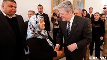Bundespräsident Joachim Gauck trifft Angehörige der Neonazi Mordopfer