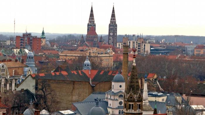 View of the rooftops of Szeged